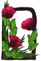 Blumen-Glitzerramen